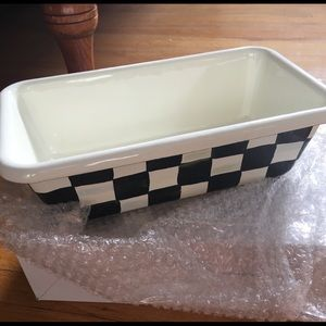 NWT Mackenzie Childs Courtly Check loaf pan